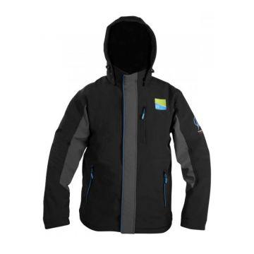 Prestoninno Soft Shell Hooded Fleece Jacket zwart vistrui X-large
