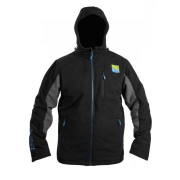 Prestoninno Windproof Hooded Fleece zwart vistrui Large