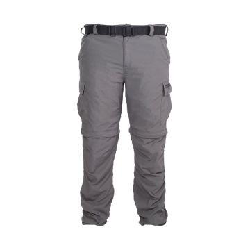 Prestoninno Zip Off Cargo Pants grijs visbroek X-large