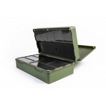 Ridgemonkey Armoury Tackle Box groen karper visdoos 33x19x10.5cm