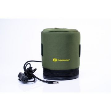 Ridgemonkey Ecopower USB Heated Gas Canister Cover groen