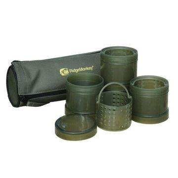 Ridgemonkey Modular Hookbait Pots groen karper karpertas