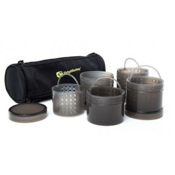 Ridgemonkey Modular Hookbait Pots zwart karper karpertas