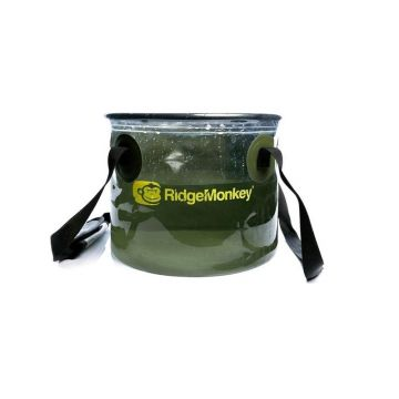 Ridgemonkey Perspective Collapsible Bucket groen - clear visemmer 15l
