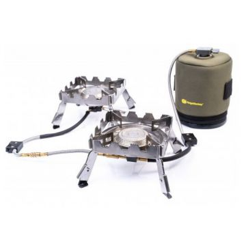 Ridgemonkey Quad Connect Stove Pro Full Kit zilver