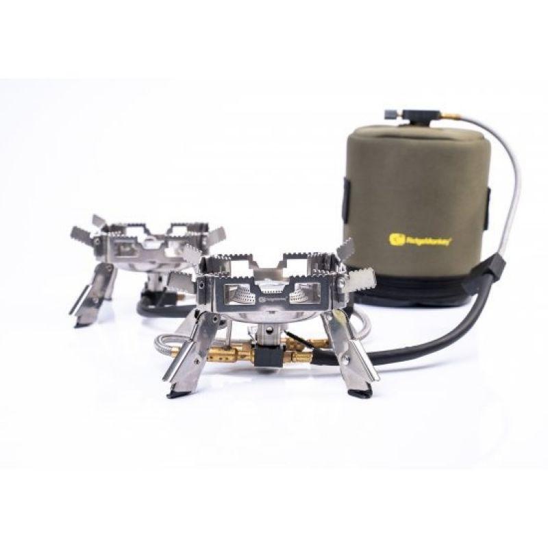 Ridgemonkey Quad Connect Stove Pro Mini Full Kit zilver