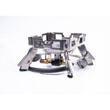 Ridgemonkey Quad Stove Pro Single zilver