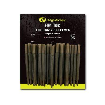 Ridgemonkey RM-Tec Anti Tangle Sleeves bruin karper klein vismateriaal 45mm