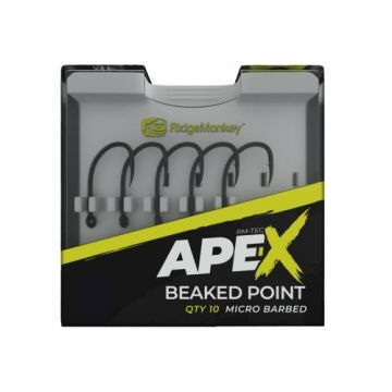 Ridgemonkey RM-Tec Ape-X Beaked Point Hooks gun metal karper vishaak 8