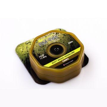 Ridgemonkey RM-Tec Soft Braid Hooklink camo karper draad voor onderlijn 25lb 20m