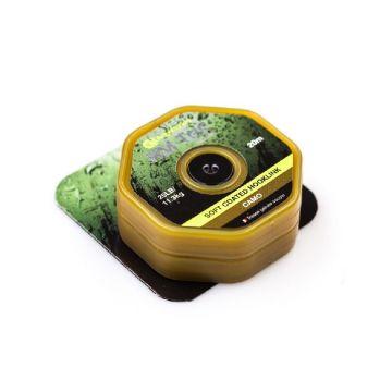 Ridgemonkey RM-Tec Soft Coated Hooklink camo karper draad voor onderlijn 25lb 20m