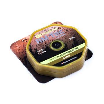 Ridgemonkey RM-Tec Stiff Coated Hooklink camo karper draad voor onderlijn 35lb 20m