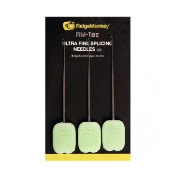 Ridgemonkey RM-Tec Ultra Fine Splicing Needles zilver - groen karper rig accessoire