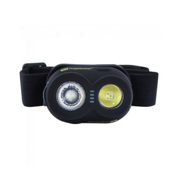 Ridgemonkey VRH150 USB Rechargeable Headtorch wit - zwart - groen lamp