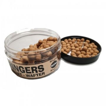 Ringers Mini Wafters Brown bruin witvis mini-boilie