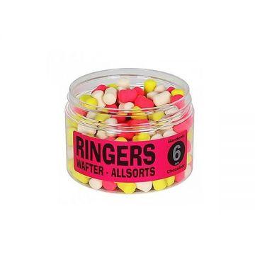 Ringers Wafters Assorts 4-kleuren witvis mini-boilie 6mm