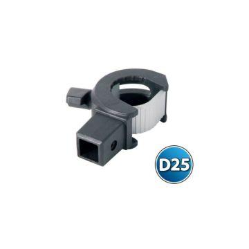Rive Bague Clip One - Trou Carre zwart - grijs witvis  D25