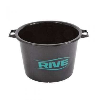 Rive Bassine 40L zwart - groen - blauw visemmer