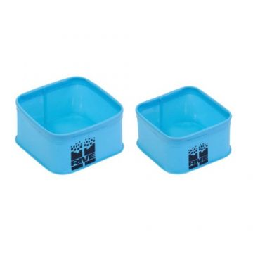 Rive Set 2 Bacs EVA Carrés blauw - groen - zwart foreltas witvistas Medium + Large