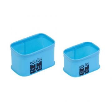 Rive Set 2 Bacs EVA Rectangulaires blauw - groen - zwart foreltas witvistas X-small + Small