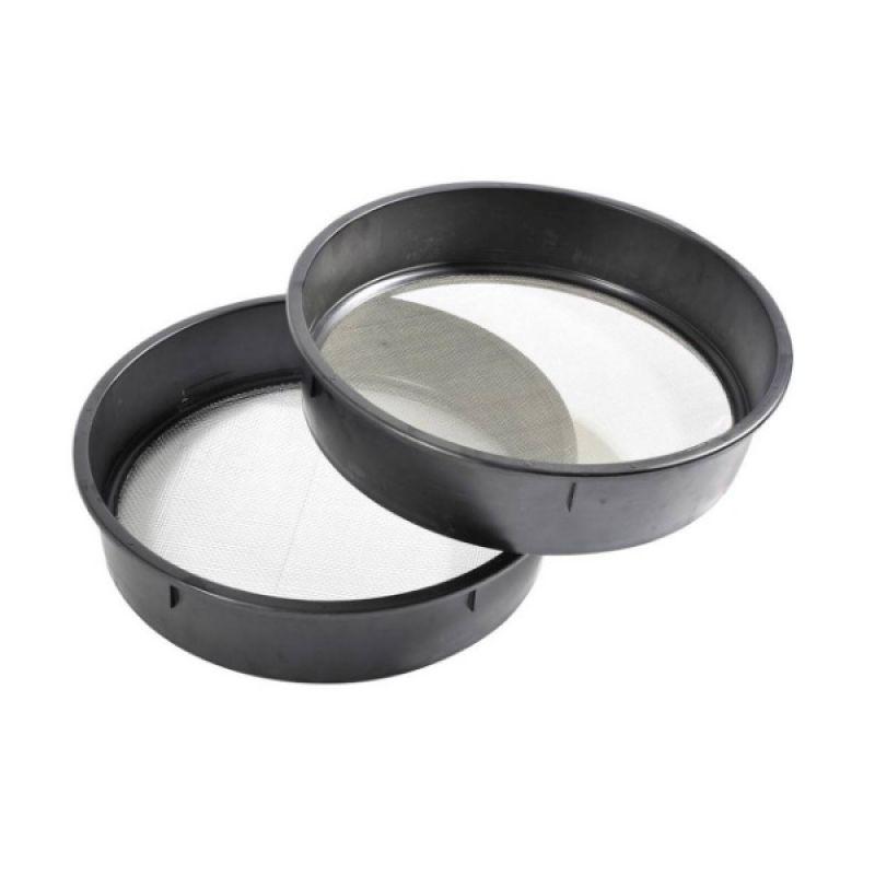 Rive Tamis N°6 - Grille 4mm zwart - zilver visemmer 450mm