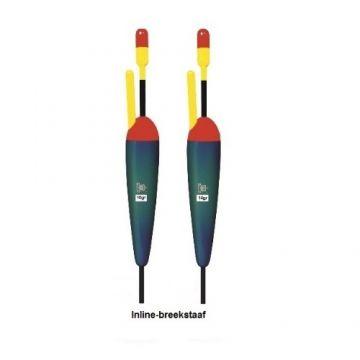 Rox Lichtgewicht inline dobber breekstaaf rood - zwart - groen zeevis visdobber 14g