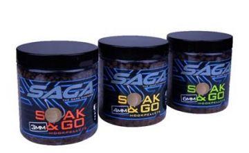 Saga Soak & Go Hookpellets bruin vispellets 3mm