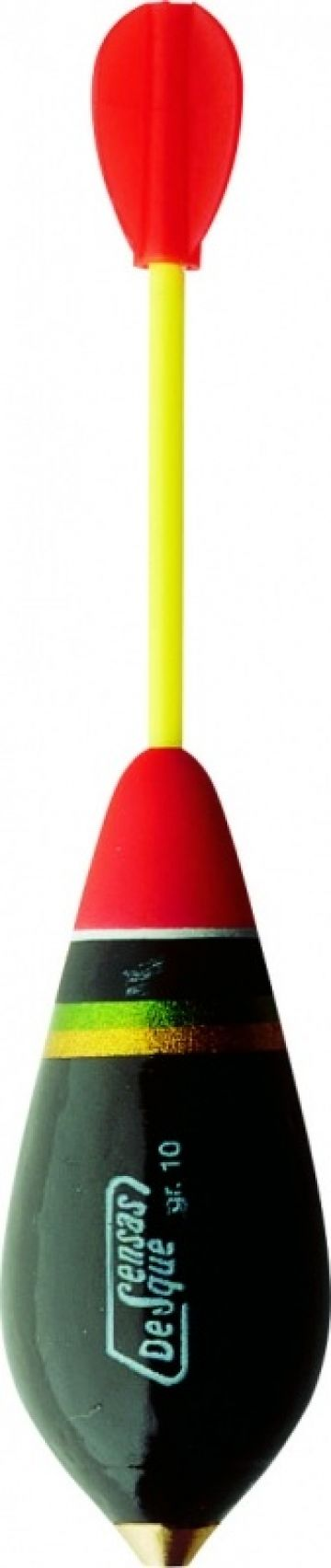 Sensas Bombetta Marie zwart - rood - geel roofvis visdobber 30g