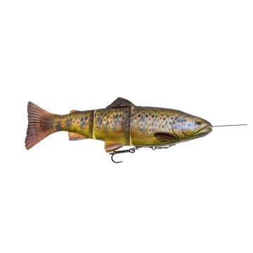 Savagegear 4D Line Thru Trout SS DARK BROWN TROUT shad 15cm 35g