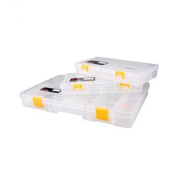 Savagegear Big Lure Box CLEAR - GEEL roofvis visdoos Size 11 275x180x80mm