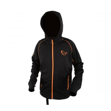 Savagegear Bruce Sweat Jacket ZWART - ORANJE visjas Xx-large