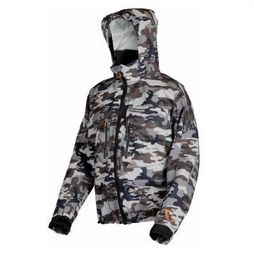 Savagegear Camo Jacket zwart - grijs - wit visjas Small
