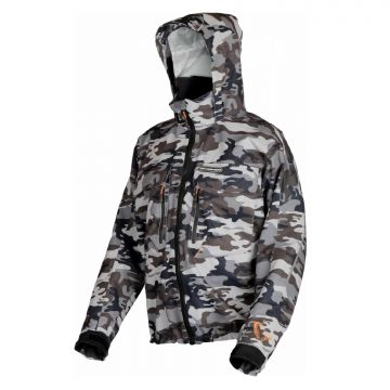Savagegear Camo Jacket zwart - grijs - wit visjas X-large