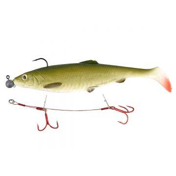 Savagegear Carbon49 Double Stinger rood - grijs roofvis roofvis onderlijn 3/0 15cm 23kg