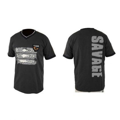 Savagegear Freshwater Tee Short Sleeve zwart - grijs vis t-shirt X-large
