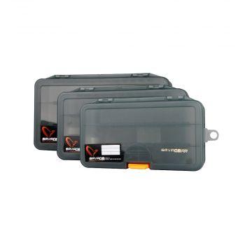 Savagegear Lure Box GRIJS - ORANJE roofvis visdoos Size 1 138x77x31mm