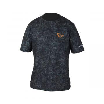 Savagegear Mimicry Urban Tee zwart - grijs vis t-shirt Large