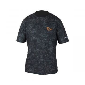 Savagegear Mimicry Urban Tee ZWART - GRIJS vis t-shirt X-large