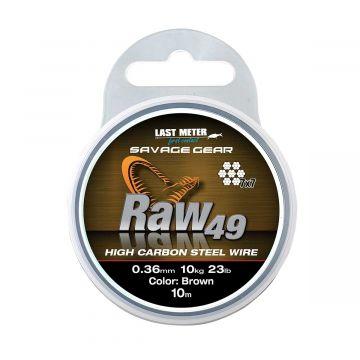 Savagegear Raw 49 BRUIN roofvis vis staaldraad 0.45mm 10m 16kg
