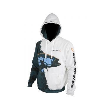 Savagegear Saltwater Hoodie Pullover WIT - GROEN - BLAUW vistrui Xx-large