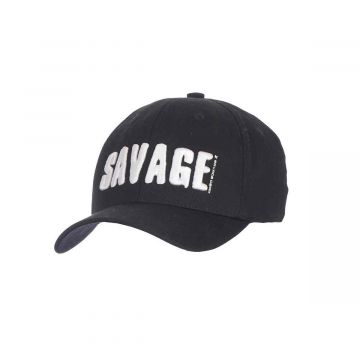 Savagegear Simply Savage 3D Logo Cap ZWART - WIT pet Uni