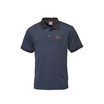 Savagegear Simply Savage Polo navy vis t-shirt Large