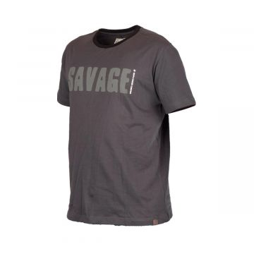Savagegear Simply Savage Tee grijs vis t-shirt Large