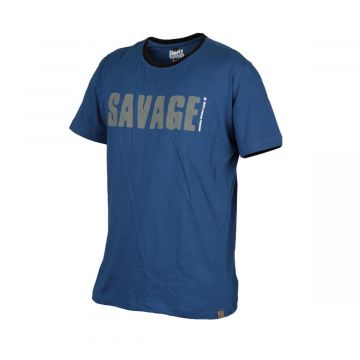 Savagegear Simply Savage Tee BLAUW vis t-shirt X-large