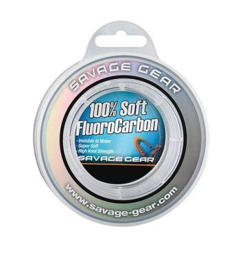 Savagegear Soft Fluoro Carbon clear visdraad 0.22mm 50m