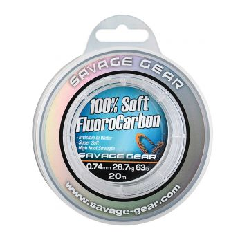 Savagegear Soft Fluoro Carbon clear visdraad 0.74mm 20m