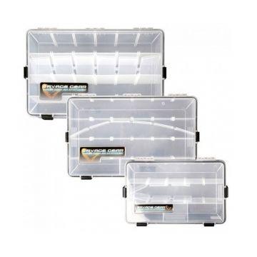 Savagegear WPB Box CLEAR - ZWART roofvis visdoos Size 9 355x230x92mm
