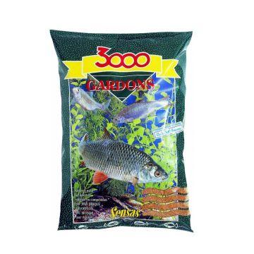 Sensas 3000 Gardon Voorn 1kg bruin witvis visvoer