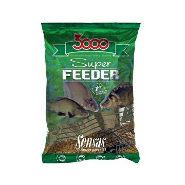 Sensas 3000 Super Feeder Lake Black 1kg zwart witvis visvoer