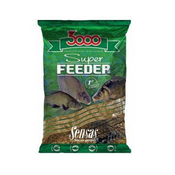 Sensas 3000 Super Feeder River Black 1kg zwart witvis visvoer